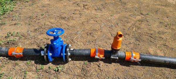 Sistema de Válvula de Guillotina y Válvula de Aire con Acople rápido.